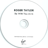 Roger Taylor Be With You UK promo album cover label