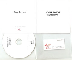 Roger Taylor Sunny Day UK promo white cover