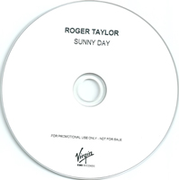 Roger Taylor Sunny Day UK promo album cover label