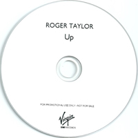Roger Taylor Up UK promo album cover label