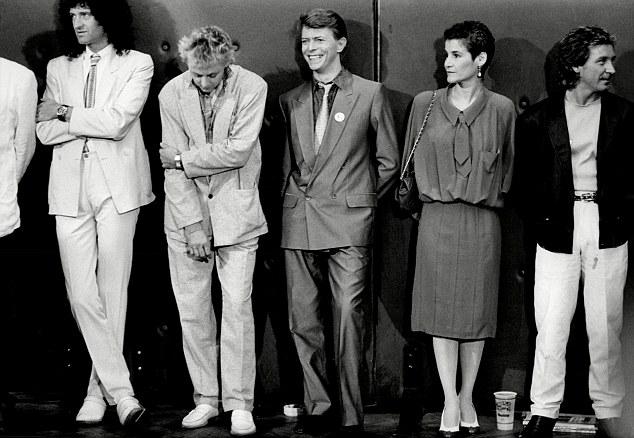 David Bowie 1985 Queen + Live Aid