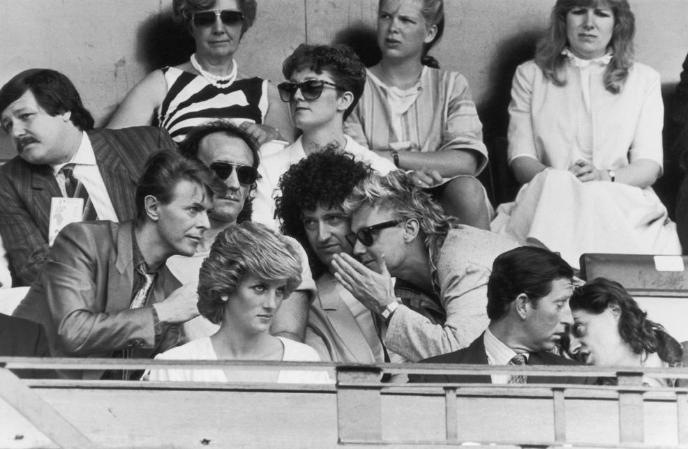 Live Aid Queen + David Bowie- Royal box