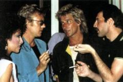 Freddie+Mercury+rod stewart roger taylor los angeles
