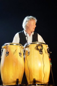 Roger Taylor with congas 2005