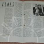 1988 The Cross Shove It German promo insert (inner)