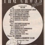 1988 The Cross Shove It UK Tour Ad