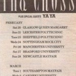 1988 The Cross Shove IT UK Tour Press Ad