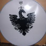 Queen+Paul Rodgers - drumbass skin Remo 2005-06